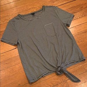 J Crew Striped T with Tie Front - New